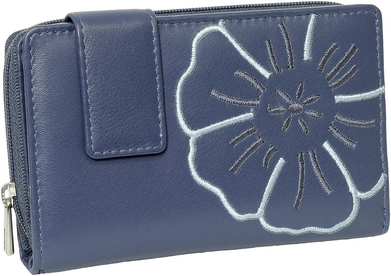 Branco Leder Geldbörse Portemonnaie Damenbörse Damen Damen Damen Lang Geldbeutel blau B00QH3Z8WY c64e33