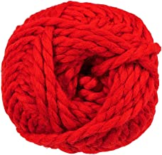 90 Yard Skein of Super Bulky (Size 6) Dual Blend Yarn – 50% Wool and 50% Acrylic – Create Scarves, Cowls, Gloves, and Hats (Claret)