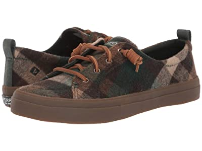 Sperry Crest Vibe Plaid Wool (Brown/Green) Women