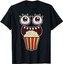 Kawaii Eyes Popcorn Monster Movies Pop Corn Costume Gifts T-Shirt