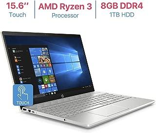 HP Pavilion 15.6'' Touchscreen HD WLED-Backlit Display Laptop, AMD Ryzen 3 2200U 2.5GHz Processor, AMD Radeon Vega 3 Graphics, 8GB DDR4 RAM, 1TB HDD, HDMI, Bluetooth, B & O Play, Windows 10 - Gold