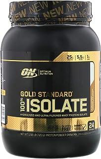 Optimum Nutrition Gold Standard 100% Isolate, Slow Churned Caramel Ice Cream, 1.58 lb (720 g)