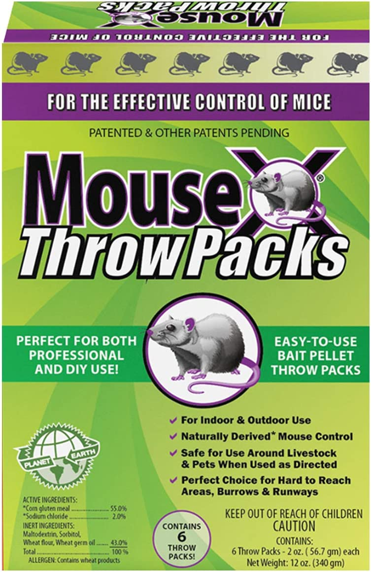 MouseX Throw Packs Bait Pellets Mice 直営限定アウトレット 6 for Pack WEB限定 of