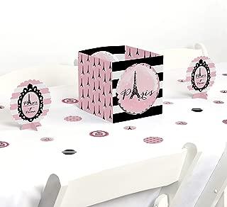 Big Dot of Happiness Paris, Ooh La La - Paris Themed Baby Shower or Birthday Party Centerpiece & Table Decoration Kit