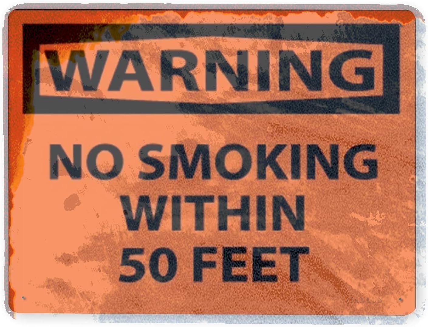 J.DXHYA Man Cave Decor 2 2021 new trend rank Smoking No Pieces Sign Warning