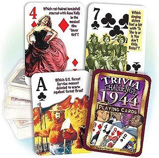 Flickback Media, Inc. 1944 Trivia Playing Cards: 75th Birthday