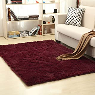 THEE Ultra Soft Shaggy Fluffy Area Rug Home Decor Living Room Bedroom Dormitory Carpet Floor Mat