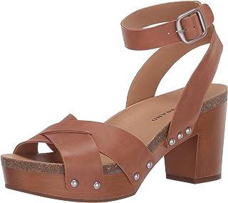 Lucky Brand Women's HADILLA Heeled Sandal, Macaroon, 9