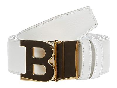 Bally B Buckle 40 M Belt Adjustable/Reversible Belt (White) Men