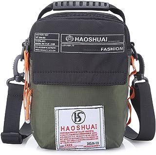 JAKAGO Universal Small Waterproof Shoulder Bag Messenger Bag Handbag Mobile Phone Pouch Cross Body Bag Purse Waist Bag with Shoulder Strap for Outdoor Sport Travel Hiking Camping
