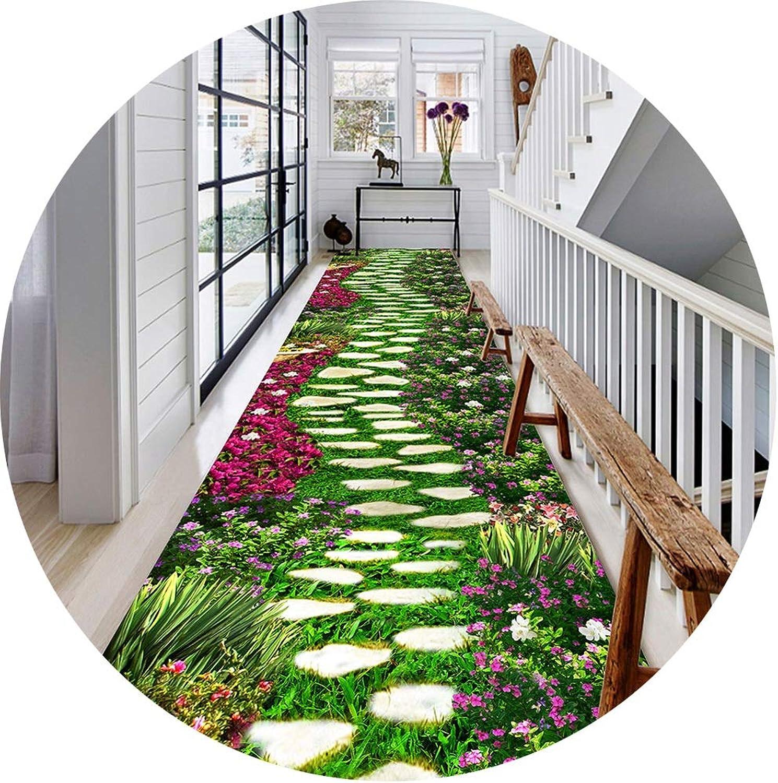 tienda en linea ZENGAI-Alfombra de de de pasillo Estereoscópico Hermoso Las Flores Corrojoor Sala Habitación Alfombras, Disponible En Variedad De Tamaos (Color   B, Tamao   0.8x2m)  precio razonable