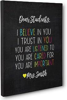 Dear Students Classroom Canvas Wall Art