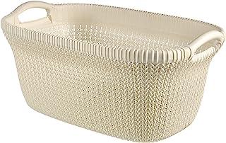 Curver Cesta Knit 40L, Blanco Oasis, 57.5x36.5x25 cm, 228393