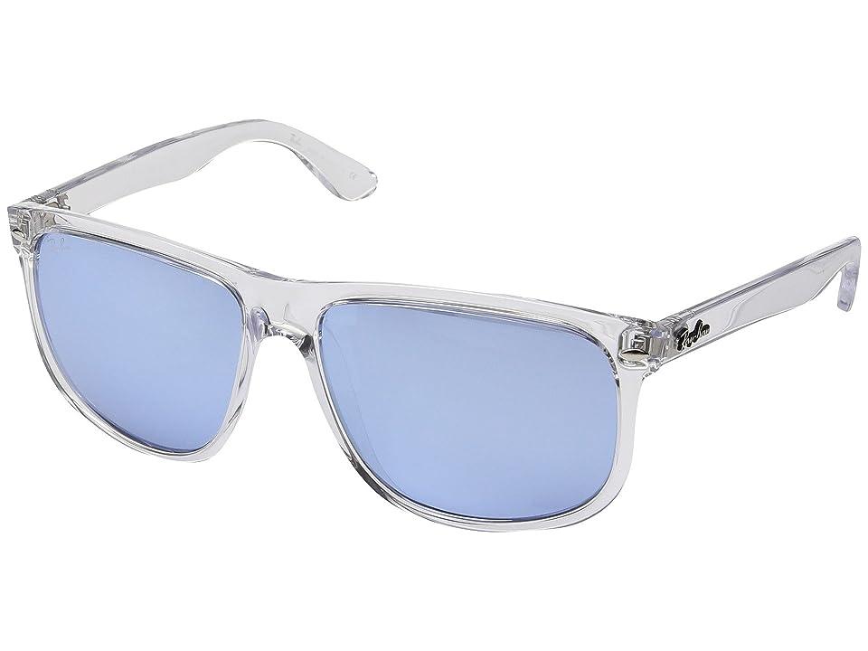 Ray-Ban RB4147 Boyfriend 60mm (Transparent/Blue Flash Silver) Fashion Sunglasses