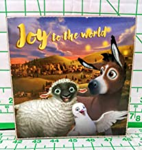 Dandee inc Joy to The World The Star Animation Wood Box Wall Plaque Donkey Lamb Dove in Front of City