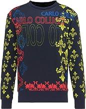 Carlo Colucci Heren Barok Sweatshirt, Navy