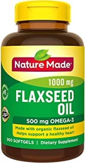 Nature Made Flaxseed Oil 1,400 mg Softgels (300 Count)