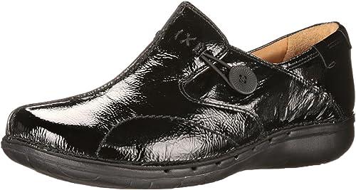 CLARKS Wohommes Un Loop Flat, noir noir Patent Leather, 5 M US