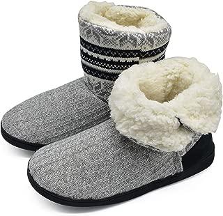 Women's Slippers Comfort Knit Boots Winter Warm Outdoor Indoor Shoes