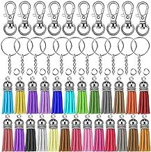 selizo 100Pcs Key Chain Rings Bulk with Tassel for Tassel Keychain