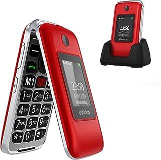 "Ushining Senior Flip Phone Unlocked 3G SOS Big Button Unlocked T Mobile Flip Phone 2.8"" LCD and Large Keypad Basic Cell Ph..."