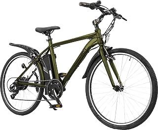 AIJYU CYCLE 電動クロスバイク 軽量アルミフレーム パスピエ ARES【アレス】シマノ6段ギア 26インチ 電動アシスト自転車 リチウムイオンバッテリー 型式認定車両(TSマーク) (カーキ)