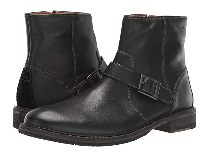 Men's 1950s Shoes Styles- Classics to Saddles to Rockabilly Clarks Clarkdale Spare Black Leather Mens Boots $179.95 AT vintagedancer.com