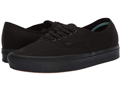 Vans ComfyCush Authentic (Black/Black) Athletic Shoes