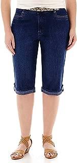 Gloria Vanderbilt Marnie Belted Cropped Pants - Size 4 Blue