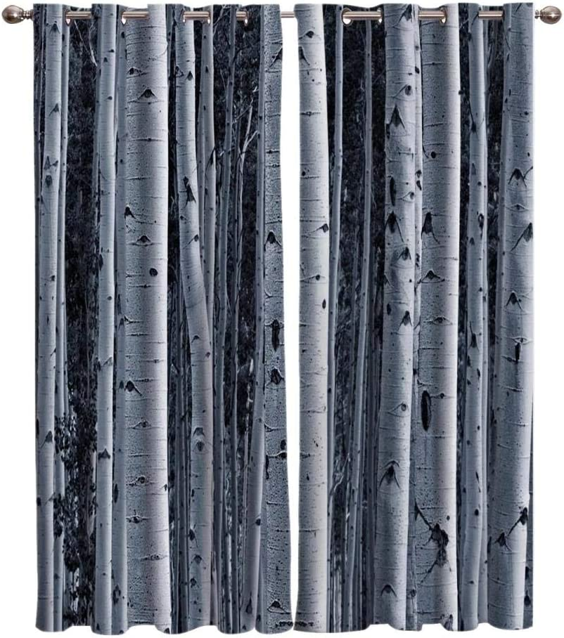 Zzmdmn White Birch Room A Cheap surprise price is realized Curtains Ind Window Bathroom Living
