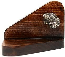 Schnauzer, Wooden Candlestick with Dog, Limited Edition, ArtDog