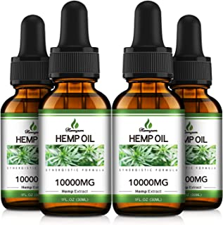Sponsored Ad - 4 Packs Hemyum Organic Hemp Oil Drop 10,000MG - Relieve Stress & Anxiety - Better Sleep, 100% Natural Ingre...