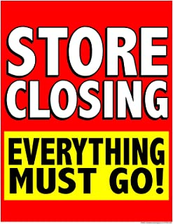 P70SCE Store Closing Everything Must Go! Window Sale Sign Posters Retail Business Store Signs (P70-38