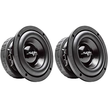 "(2) Skar Audio EVL-65 D4 6.5"" 400 Watt Max Power Dual 4 Ohm Car Subwoofers, Pair of 2, BNDLE-EVL-65D4x2"