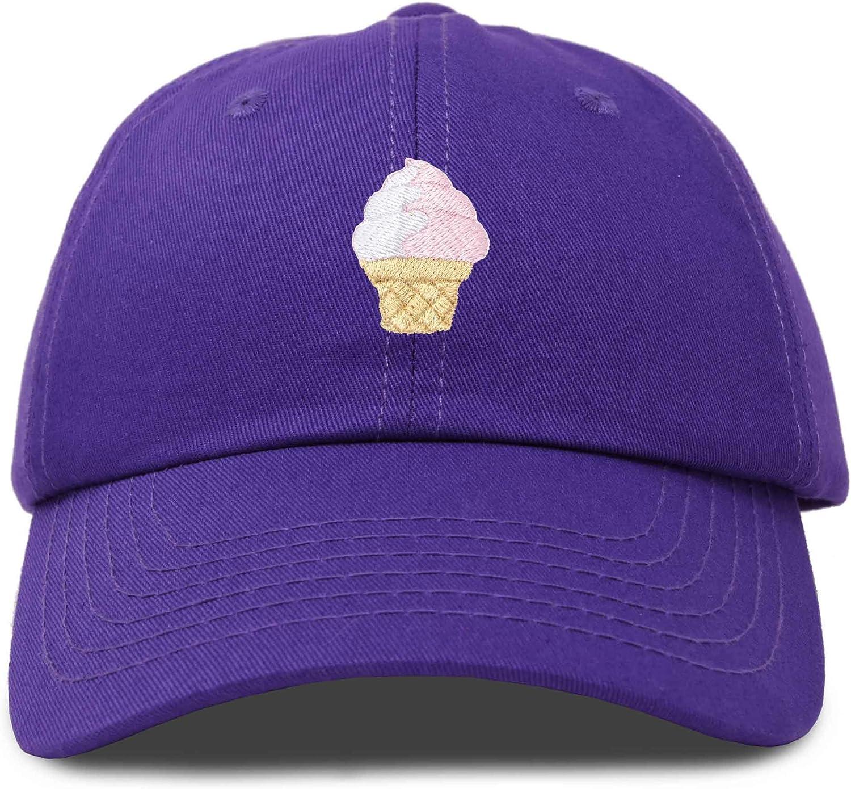 DALIX Soft Serve Ice Cream Hat Cotton Baseball Cap