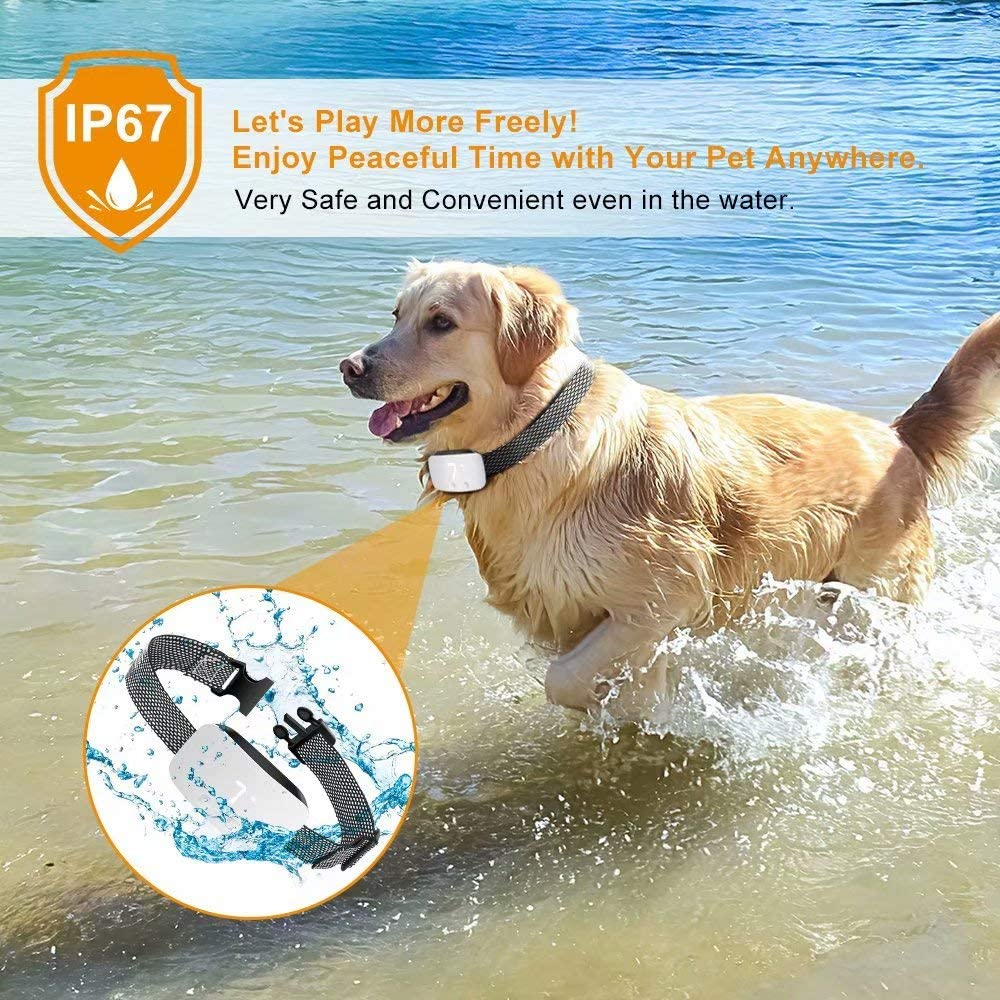 Rechargeable Anti Barking Training Collar Nest 9 Dog Bark Collar No Bark Collar 7 Adjustable Sensitivity and Intensity Levels for Small Medium Large Dogs