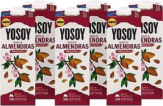 Yosoy - Bebida Vegetal de Almendras sin Azúcar - Caja de 6 x 1L