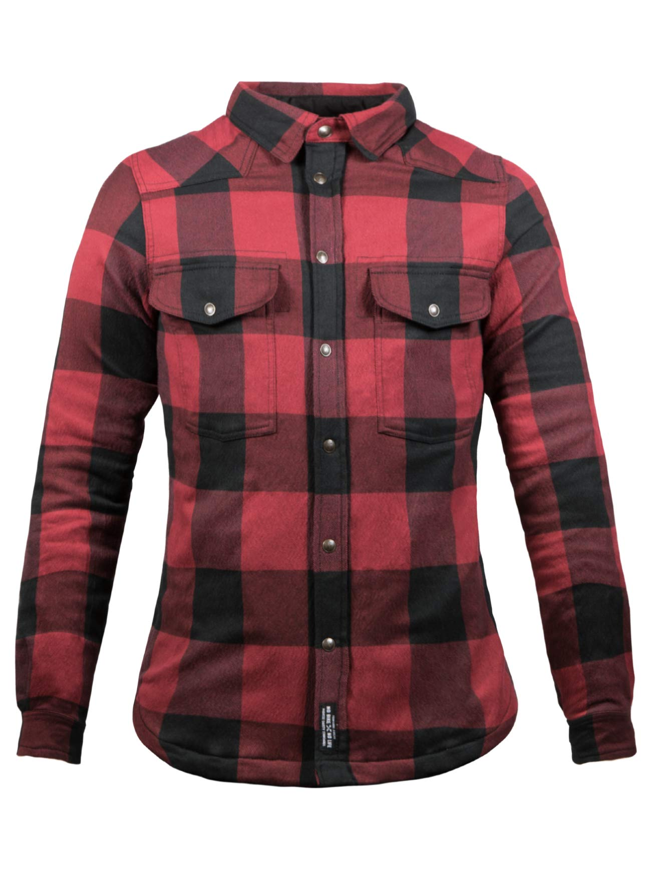 John Doe Damen Motoshirt XTM - Black/Red | Motorradjacke mit Kevlar | XTM Made with DuPont Kevlar | Einsetzbare Protektoren | Atmungsaktiv | Motorrad Motoshirt: Amazon.es: Coche y moto