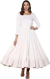 Indian Virasat Women's Cotton Anarkali Kurta