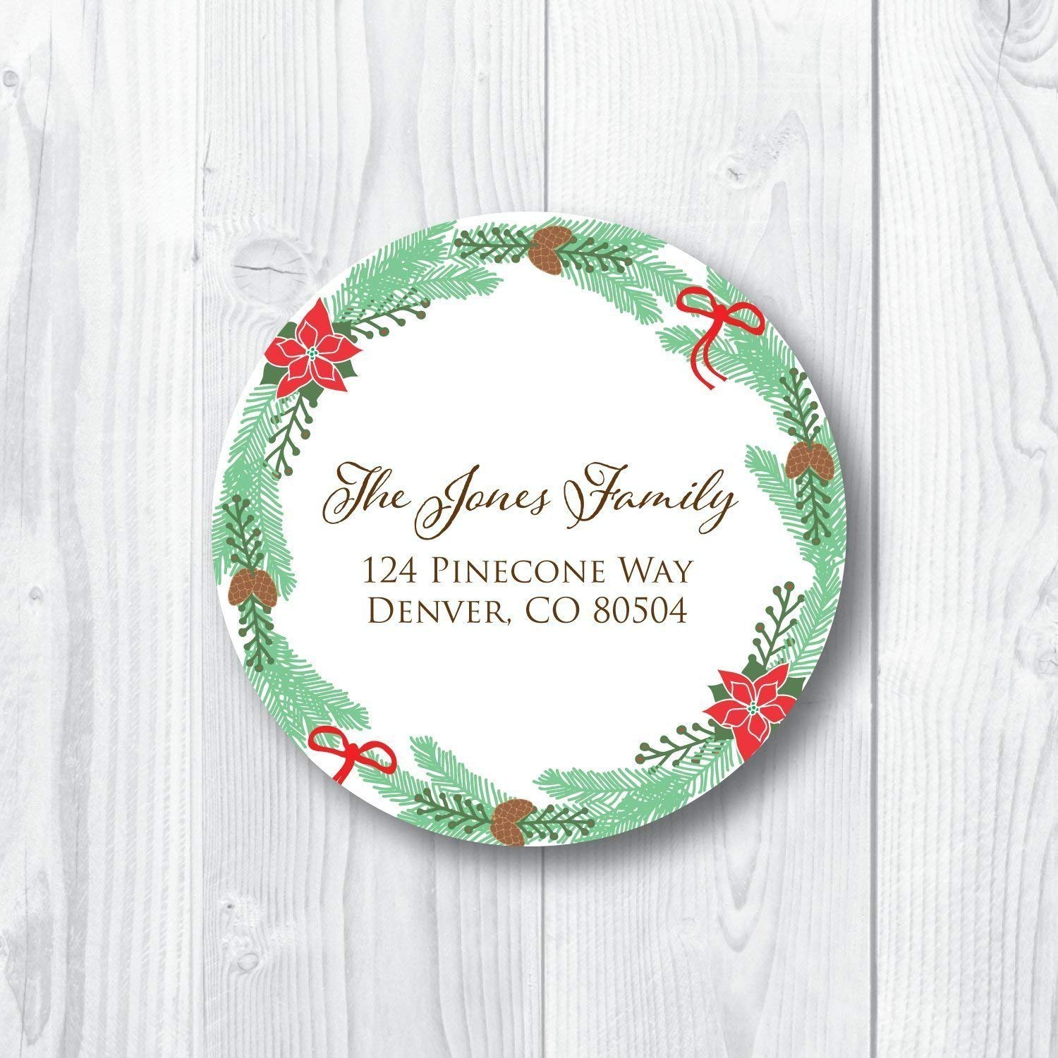 Return Address Labels Pinecone Wreath Super beauty product restock Popular product quality top