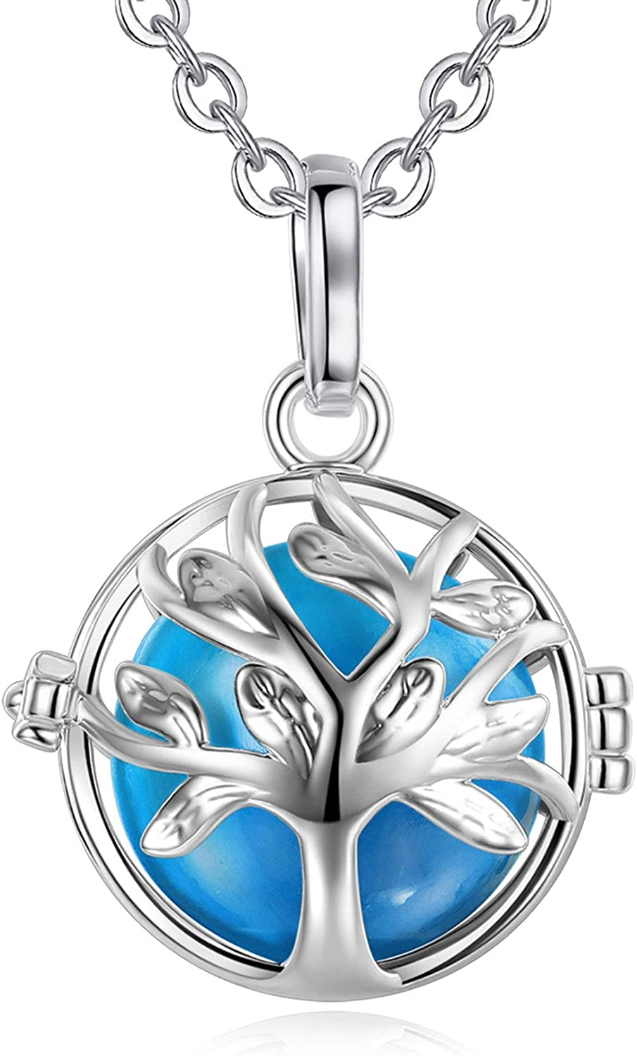EUDORA A surprise price is realized Harmony Bola Necklace Tree of Wis National products Pendant 18mm Life Chime