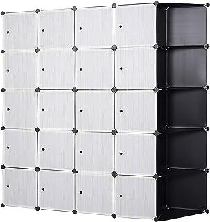 eSituro SGR0042 Armoire de penderie Cube avec portes armoire de rangement modules ranger les vêtements chaussures sacs