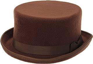 John Bull Low Steampunk Top Hat in Brown
