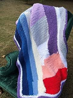 Handmade Fluffy Yarn Afghan Blanket Throw