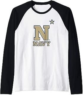 US Naval Academy Midshipmen NCAA PPUSNA01 Raglan Baseball Tee