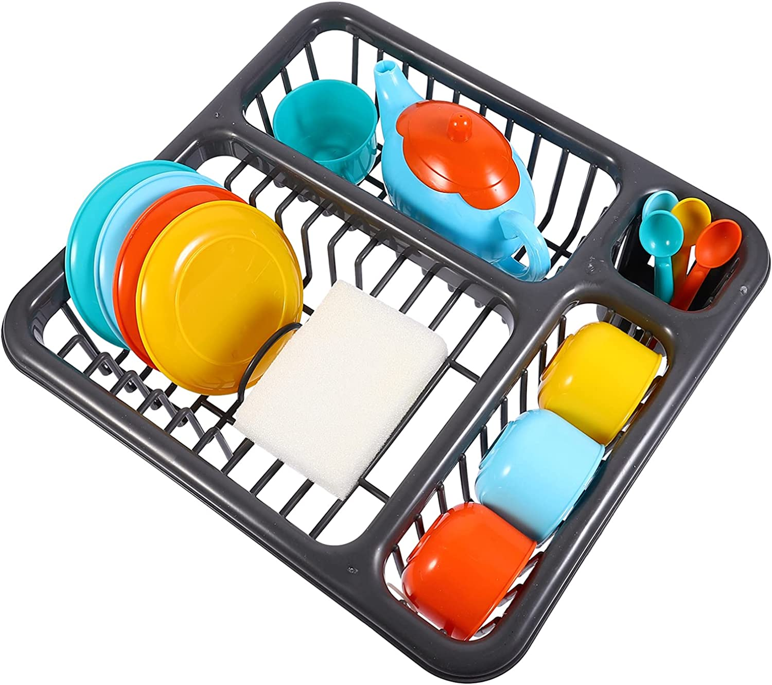 NUOBESTY Kitchen Toys Department store 1 Set Low price Dry Wash Dish 15pcs Toy