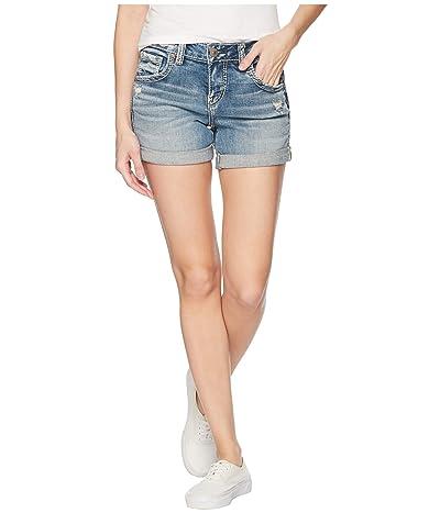 Silver Jeans Co. Boyfriend Mid-Rise Shorts L53608SJL268 (Indigo) Women