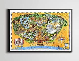 Vintage 1976 DISNEYLAND Park Map POSTER (Full-Size 24