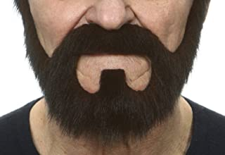 Mustaches Self Adhesive, Novelty, On Bail Fake Beard, False Facial Hair, Costume Accessory for Adults, Brown Color