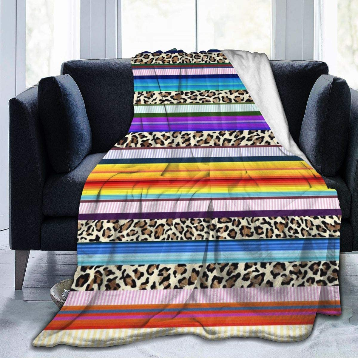 Boston Mall TS HOME ART Blanket Virginia Beach Mall Mexican Serapes Bl Soft Leopard Print Fleece